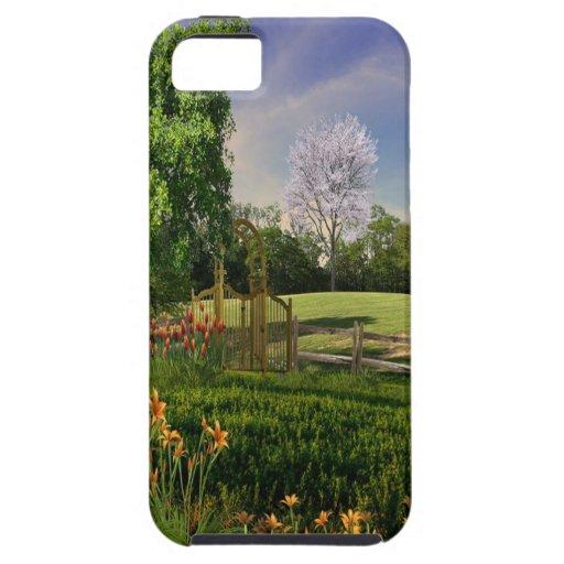 Jardín de la primavera iPhone 5 fundas