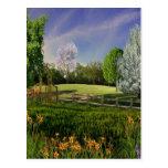 Jardín de la primavera postal