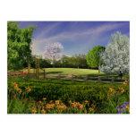 Jardín de la primavera tarjeta postal