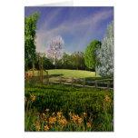 Jardín de la primavera tarjetas