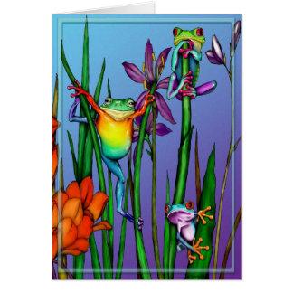 Jardín de la rana arbórea tarjeta