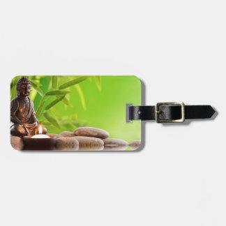 jardín de la serenidad del zen de Buda Etiquetas Para Equipaje