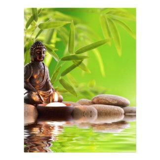 jardín de la serenidad del zen de Buda Membrete Personalizado