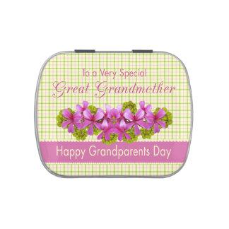 Jardín de la tela escocesa de la bisabuela frascos de dulces