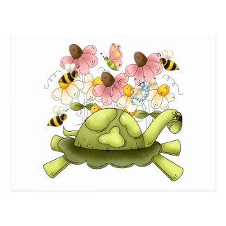 Jardín de la tortuga tarjeta postal