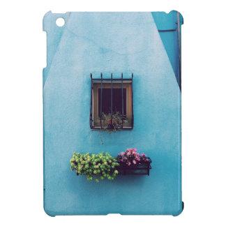 Jardín de la ventana en azul
