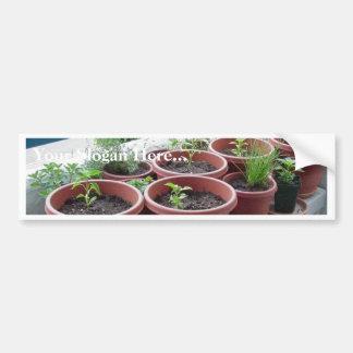 Jardín de las pimientas de las especias de las hie etiqueta de parachoque