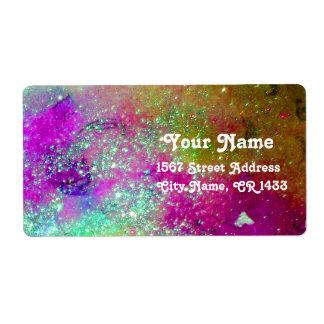 JARDÍN de las SOMBRAS PERDIDAS, púrpura azul del Etiquetas De Envío