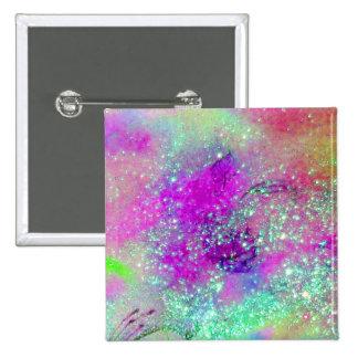 JARDÍN DE LAS SOMBRAS PERDIDAS - violeta púrpura Chapa Cuadrada 5 Cm