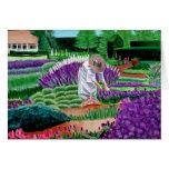 Jardín de las tarjetas de nota de la pintura de la