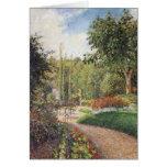 Jardín de Les Mathurins en Pontoise por Pissarro Tarjeta De Felicitación