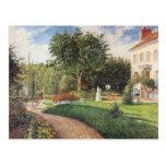Jardín de Les Mathurins en Pontoise por Pissarro Postal