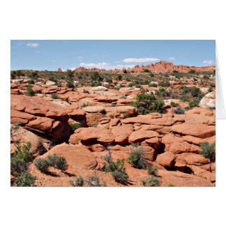 Jardín de los diablos, arcos parque nacional, Utah Felicitaciones
