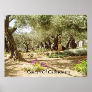 Jardín de los posters del cristianismo de Gethsema
