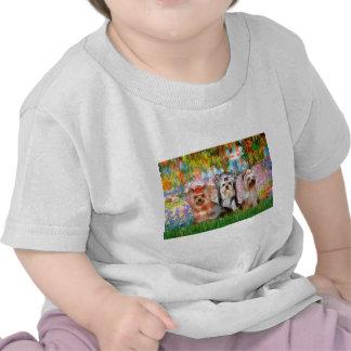 Jardín de los terrieres de Yorkshire (tres) - Camiseta
