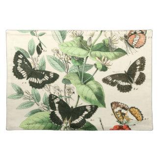 Jardín de mariposas y de flores manteles individuales