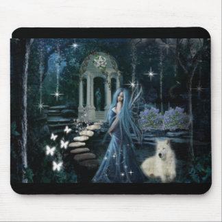 Jardín de medianoche mouse pads