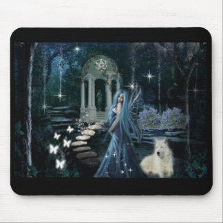 Jardín de medianoche Mousepad Tapetes De Raton