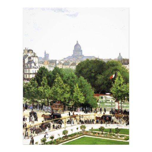 Jardín de Monet de la princesa Membrete Personalizado