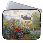 Jardín de Monet en Argenteuil Funda Portátil