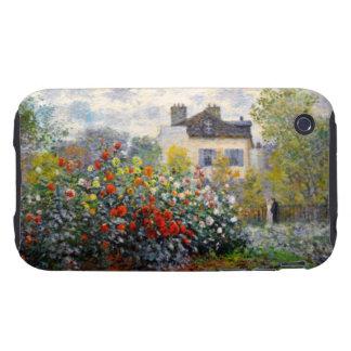 Jardín de Monet en Argenteuil Tough iPhone 3 Cárcasa