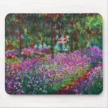 Jardín de Monet en bella arte Mousepad de Giverny Alfombrillas De Ratón