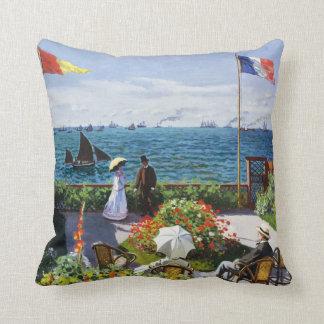 Jardín de Monet en la almohada de tiro de Sainte
