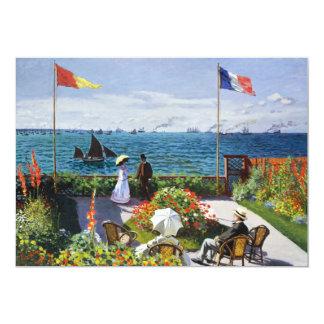 """Jardín de Monet en las invitaciones de Sainte Invitación 5"""" X 7"""""""