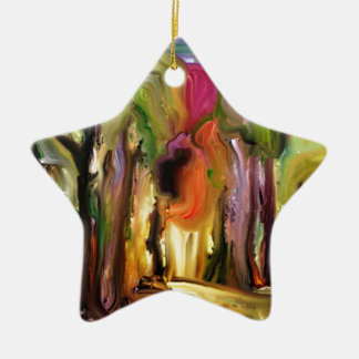 Jardín de neón adorno de cerámica en forma de estrella