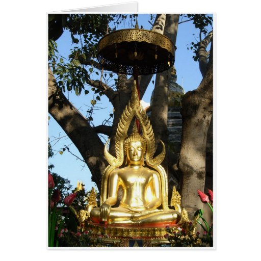 Jardín de oro Buda Tarjetas