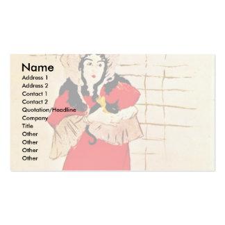 Jardin De Paris, May Belfort Poster Double-Sided Standard Business Cards (Pack Of 100)