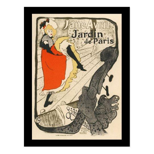 Jardin de Paris Postcard