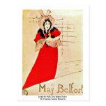 Jardin De París, poster de mayo Belfort Tarjetas Postales