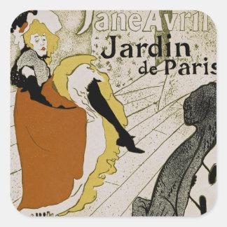 Jardin de Paris Square Sticker