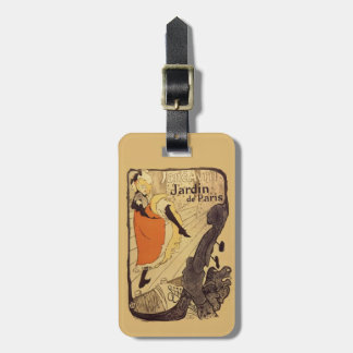 Jardin de Paris - Toulouse-Lautrec Bag Tag