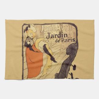 Jardin de Paris - Toulouse-Lautrec Kitchen Towel