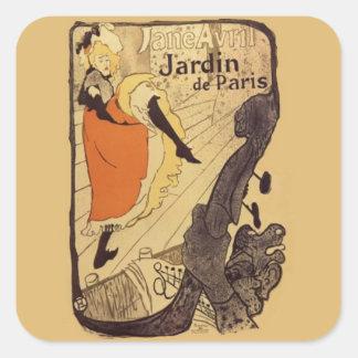 Jardin de Paris - Toulouse-Lautrec Square Sticker