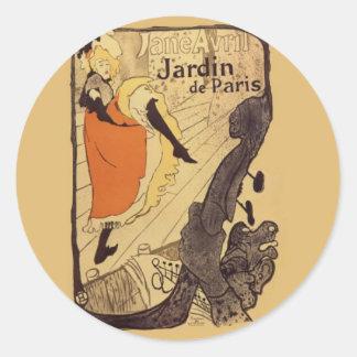 Jardin de Paris - Toulouse-Lautrec Classic Round Sticker