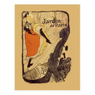 Jardin de París - Toulouse-Lautrec Tarjetas Postales