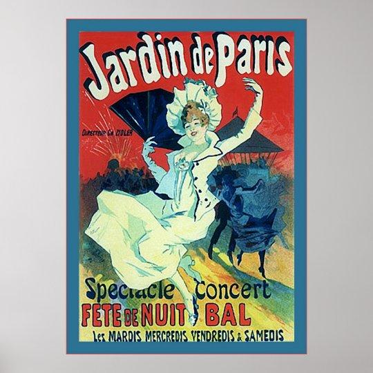 Jardin de Paris ~ Vintage French Advertising Poster ...