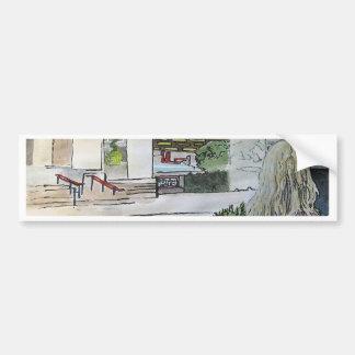 Jardín de piedras Cuasi-Oriental Etiqueta De Parachoque