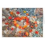 Jardín de piedras de las tarjetas de felicitación