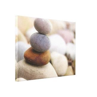 Jardín de piedras del zen impresión en lona estirada