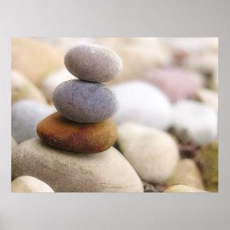 Jardín de piedras del zen impresiones