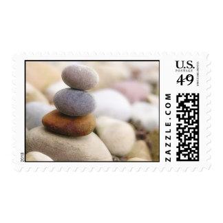 Jardín de piedras del zen sello