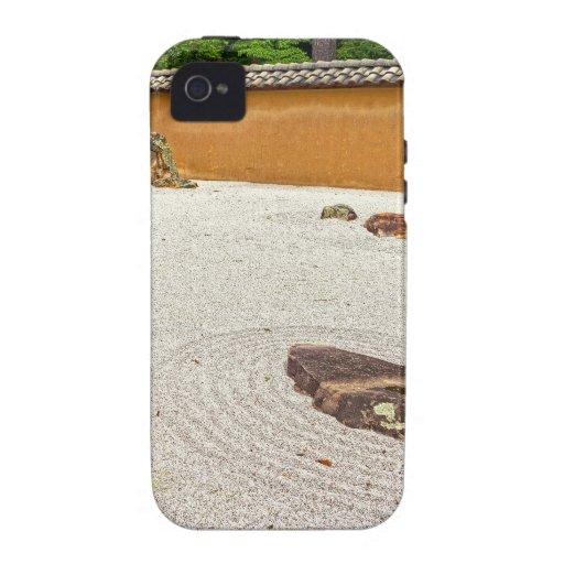 Jardín de piedras japonés iPhone 4 carcasa