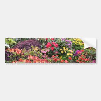 Jardín de placeres pegatina de parachoque