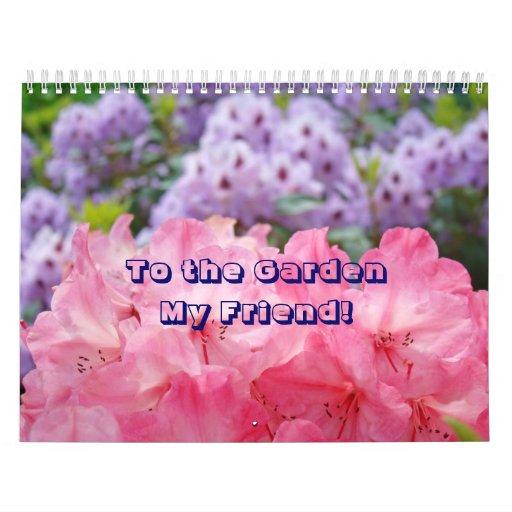 Jardín de Rhodies del calendario de los amigos al
