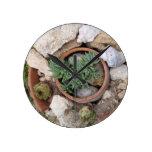 Jardín de rocalla miniatura relojes