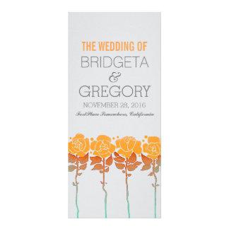 Jardín de rosas anaranjado - programas al aire tarjeta publicitaria personalizada